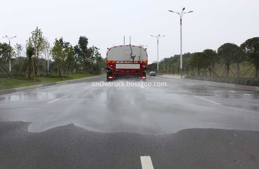 water tank truck in action 2