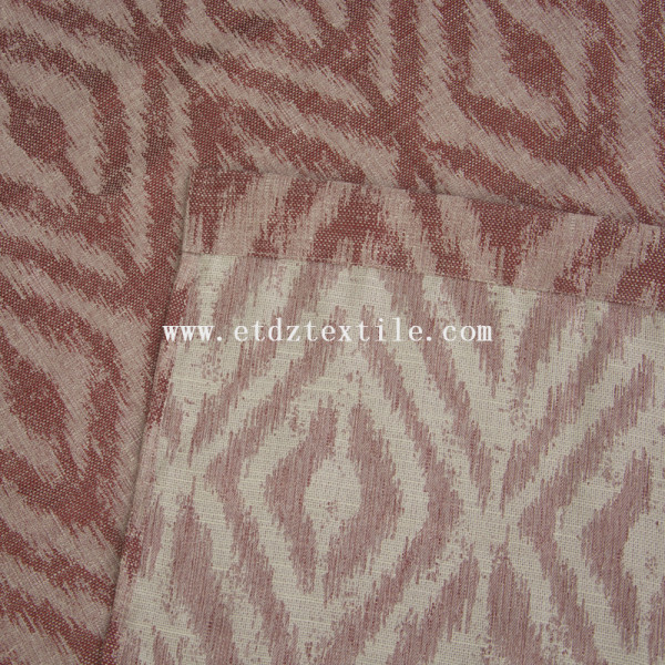 Polyester linen jacquard curtain 6002