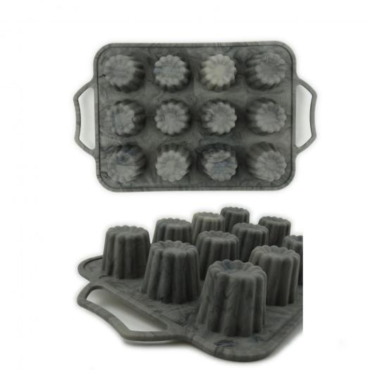 12-cavity Marbling Silicone Chocolate Molds Candy Molds