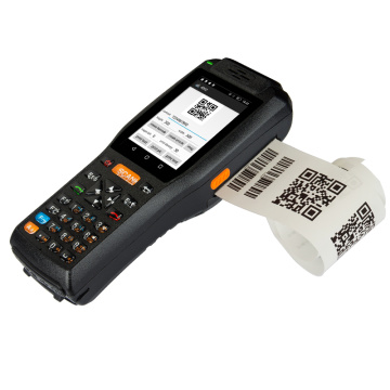 Industrial Portable Barcode scanner PDA with printer