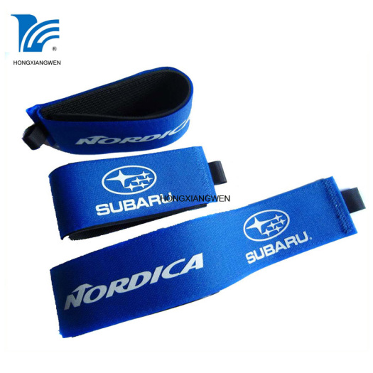 Custom Rubber Padding Alpine Hook Loop Ski Strap