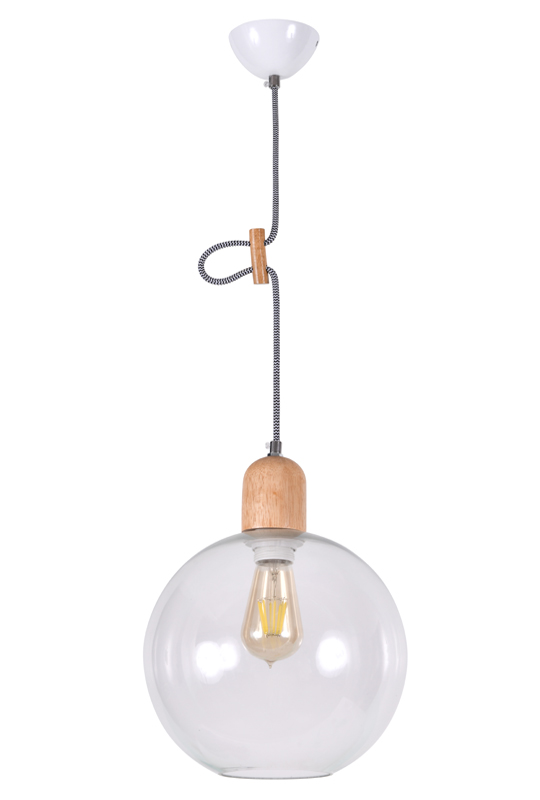 Lamp With Wood Material