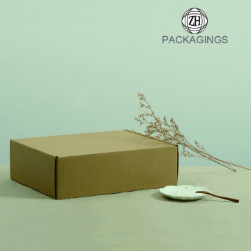 Brown color corrugated moving box package