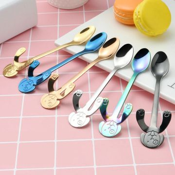 Colorful dog shaped Stainless Steel Coffee Mixing Spoon