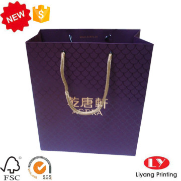 Elegant customized hot foil gift paper bag