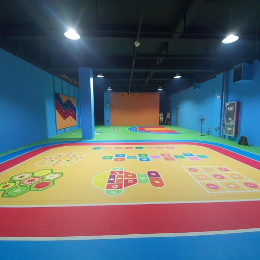 green color Indoor Gymnasium flooring