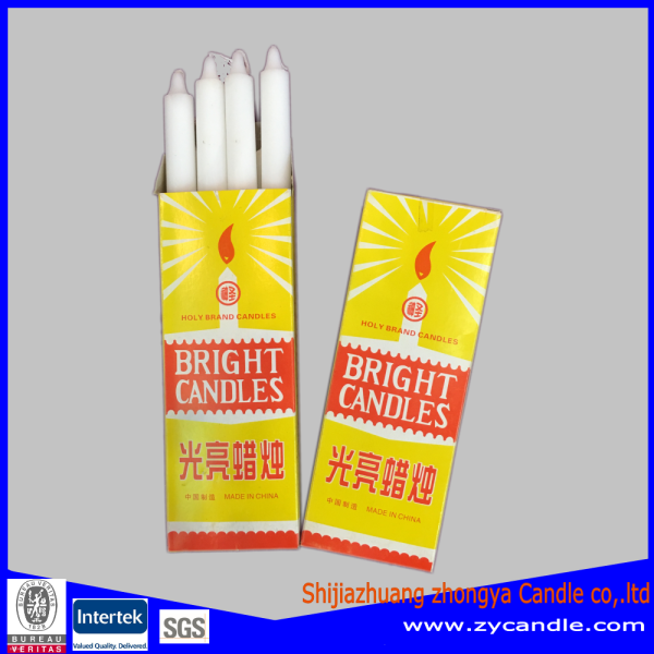 Ghana bright white color candle selling