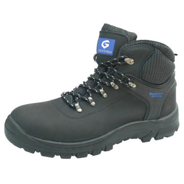 Nubuck Leather PU Injection Safety Shoes