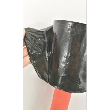 Hot sell red handle black stretch film