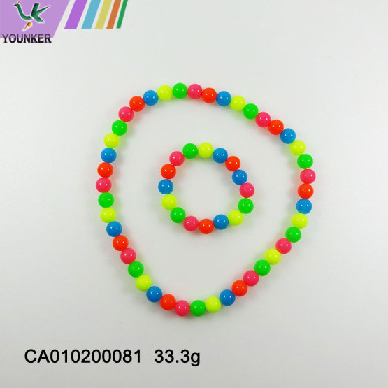 Stylish chunky candy beads for baby gifts