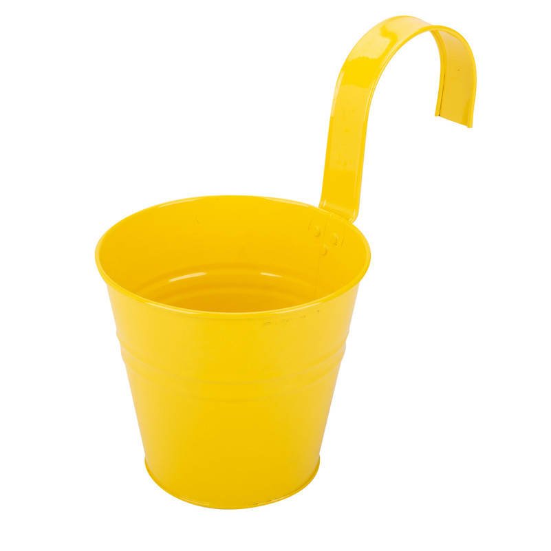 Yellow Plant Pot With Hook