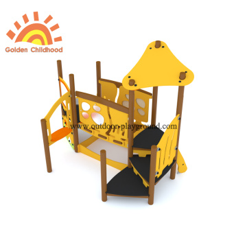 HPL Panel Bridge Slide Outdoor Playground For Kids