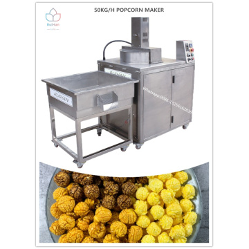 Industrial popcorn making machine with automatic