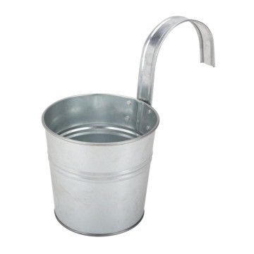 Galvanized hanging plant pot
