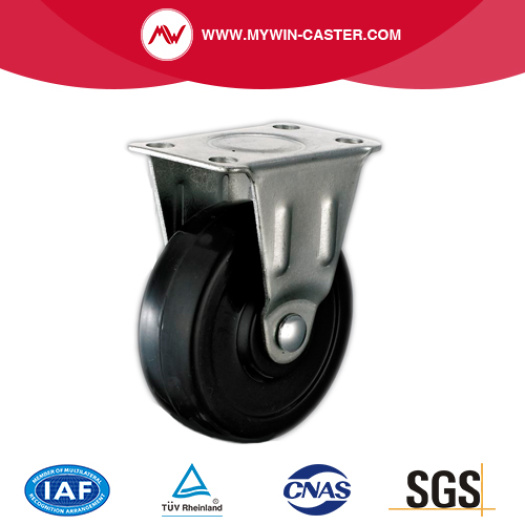 Small Black Rubber Single Brake Industrial Caster