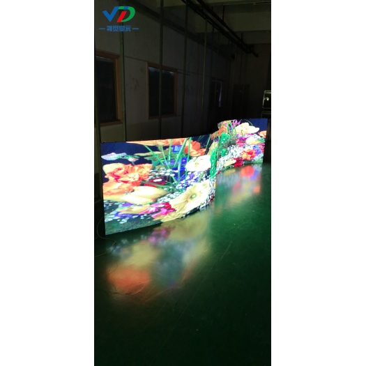 PH3.91 Curved LED Display with 500x1000 mm cabinet