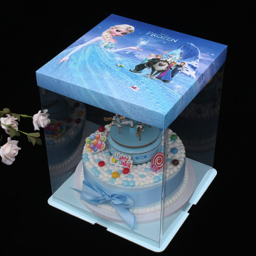 Plastic tall cake box