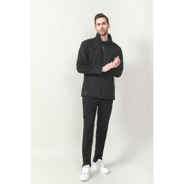 MEN'S BONED SOFT-SHELL ZIP OPENING JACKET