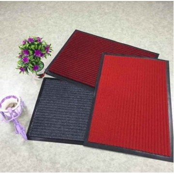 Double Stripes Polyester Mat washable door mats