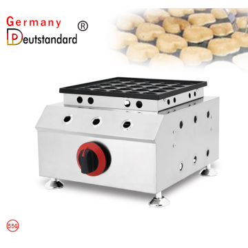 Commercial 25 holes heart shape gas poffertjes grill