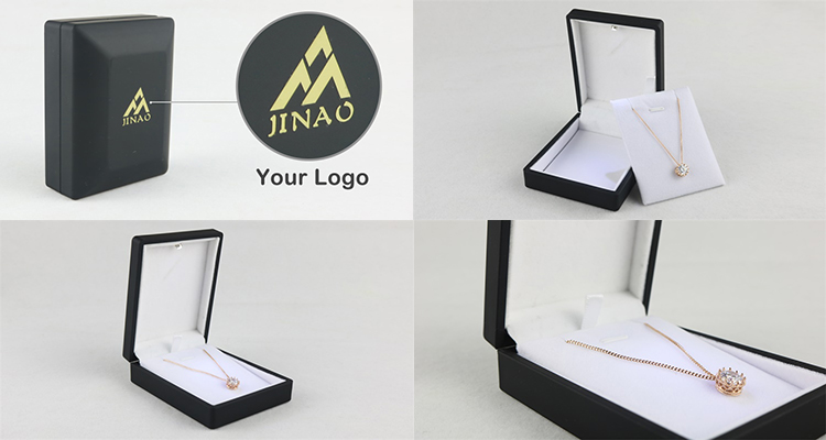 Custom logo LED light pendant jewelry box