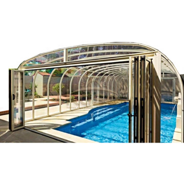 Enclosure Pool Grass Retractable Hot Tub Cover