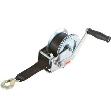 electric boat winch with strap