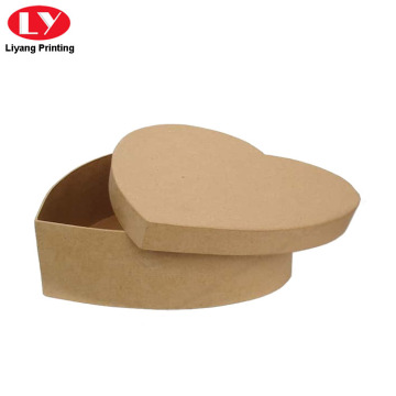 Kraft Paper Cardboard Heart Shape Cookie Box