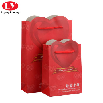 Custom Logo Paper Bag for Jewelry Hanging Bag
