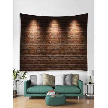 Light Brick Tapestry Wall Hanging Stone Wall Tapestry Polyester Print for Livingroom Bedroom Dorm Home Decor