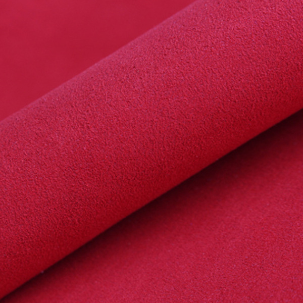 0.6mm Nonwoven synthetic microfiber suede PU leather