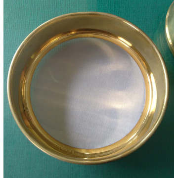 High quality Lab standard brass gold test sieve