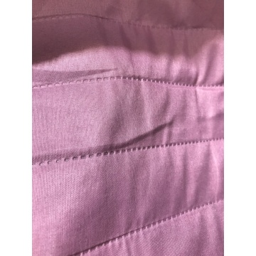 Pink 2cm Stripe Ultrasonic Microfiber Fabric