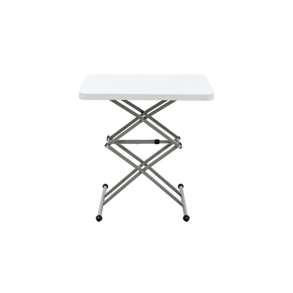 Adjustable height desk small portable folding table