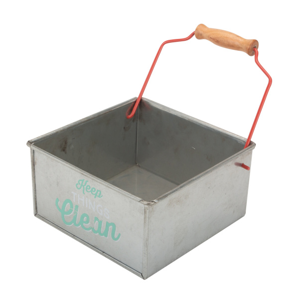 Vintage Metal Bucket Portable Tool Caddy
