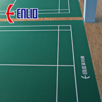 Enlio sports flooring certificated by BWF