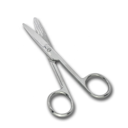 Cosmetic wholesale long eye brow scissors stainless steel custom beauty scissors