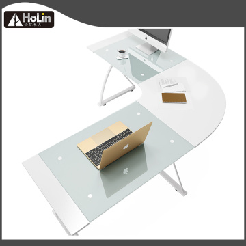 L Shape Corner Computer Desk white