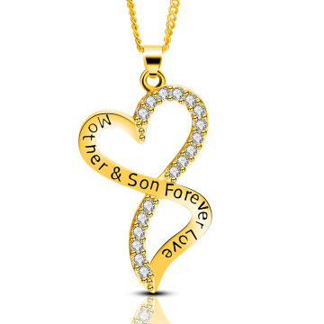 Mother's day son love geometry female necklace