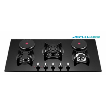 5 Burners Touch Screen Electric Gas Stove