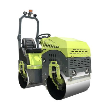 Steering flexible ride on double cylinder road roller