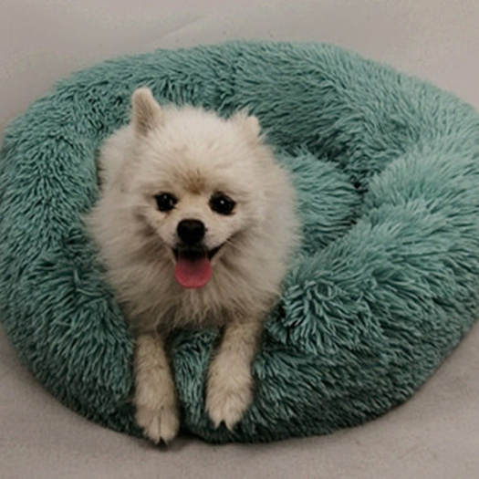 Round long South Korean plush  pet nest