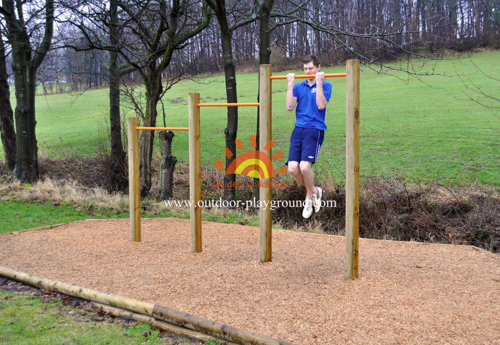 Wooden Uneven Bars Balance Playground For Park