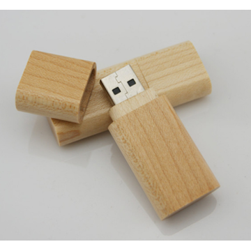 Oem Key Chain Wood Usb Flash Drive