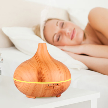 Ultrasonic Mini Fan Wood Grain Humidifier