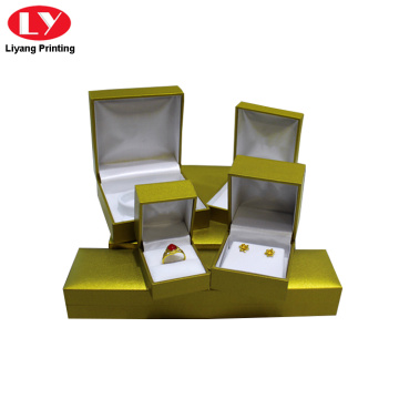 Luxury Hinge Jewelry Box with Custom Logo Printed