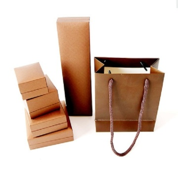 luxury brown leather paper ring box