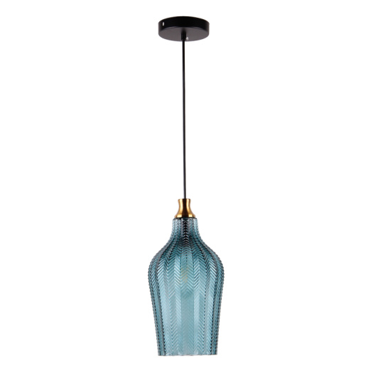 Modern Glass pendant lamp with blue color