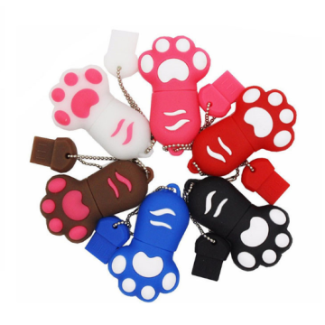 Novelty cat foot shape usb 2.0 flash drive