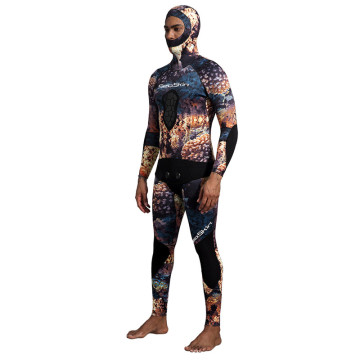 Seaskin Two Pieces Coral Camouflage Spearfishing Wetsuits